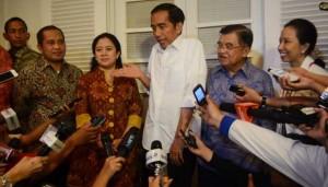 Jokowi, JK dan beberapa anggota kabinet (TEMPO)