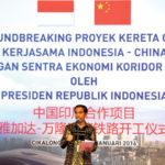 Groundbreaking kereta cepat Jakarta-Bandung oleh Presiden Jokowi (IST)