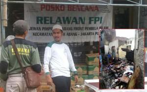 Posko bencana FPI (DOK FPI)