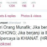 Bunyi Kicauan Ratna  Sarumpaet di Twitter miliknya