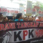 Demo tangkap Ahok di KPK (IST)