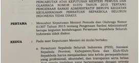 Parah, SK Pencabutan Pembekuan PSSI dari Menpora Banyak Salah Tulis