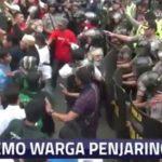 Warga Penjaringan Jakarta Utara menolak kehadiran Ahok (Kompas Online)