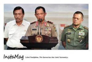 Luhut Pandjaitan, Tito Karnavian, Gatot Nurmantyo (IST)