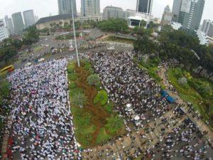 Ribuan massa umat Islam berdemo tolak Ahok, Ahad (4/9) (IST)