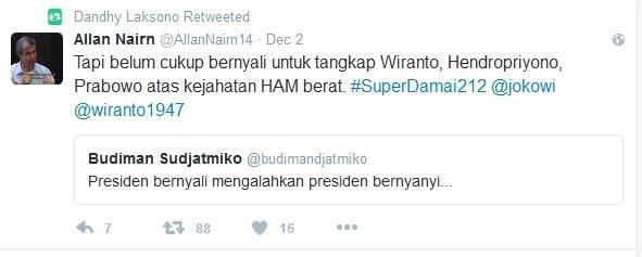Ditanggapi Wartawan Allan Nairn Jokowi tak Punya Nyali Tangkap Wiranto Cs, Budiman Sudjatmiko Membisu