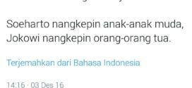 Wartawan Senior: Jokowi Tangkapi Orang Tua, Soeharto Tangkapi Anak Muda