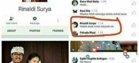 Pemilik Akun Facebook Rinaldi Surya Telah Hina Islam dan Ulama
