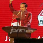 Presiden Joko Widodo berpidato pada HUT PDIP ke 44