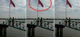 Lagi, Bendera China Berkibar di Banyuasin