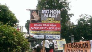 Umat Islam protes ke Metro TV dan Kompas TV (IST)