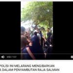 Polisi menyita bendera Arab Saudi dan Indonesia (IST)