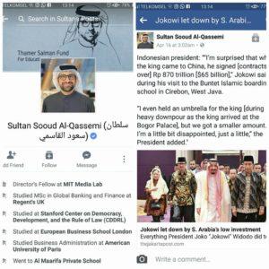 Kalangan profesional arab posting berita Jokowi kecewa ke Raja Salman (IST)