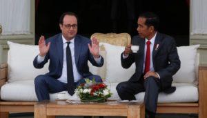 Presiden Prancis Hollande dan Jokowi (IST)