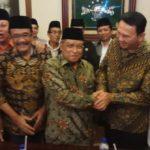 Ahok-Djarot mengunjungi Ketua Umum PBNU KH Said Aqil Siraj (IST)