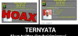 PDIP Sebarkan Hoax Habib Riziq DPO Polisi