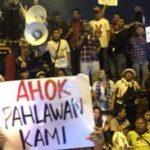 Demo pendukung Ahok di depan LP Cipinang (IST)