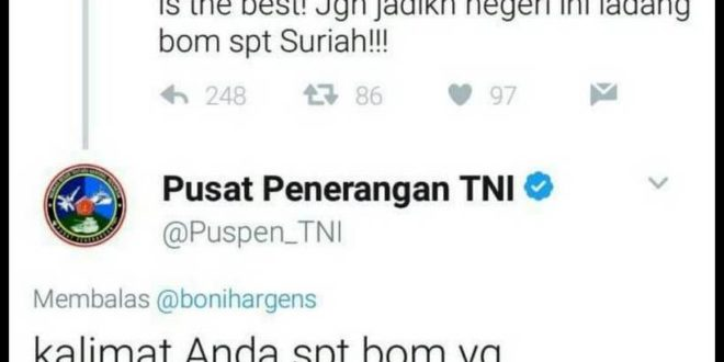Fitnah Umat Islam & Provokasi, TNI Ingatkan Pendukung Jokowi dan Ahok