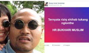 Pemilik akun Facebook yang menghina Habib Rizieq dan Hadits Nabi (IST)