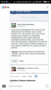 Akun Geng motor yang mengancam TNI dan Polri (IST)