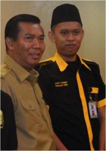 Walikota Pekanbaru,  Dr. H. Firdaus, ST., MT bersama Larshen Yunus, S.Sos., M.Si selaku Ketua Dewan Pimpinan Cabang GRANAT Kota Pekanbaru