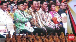 Ketum PBNU KH Said Aqil bersama Ahok dalam acara Partai Hanura (IST)