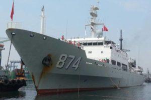 Kapal perang China berlabung di Tanjung Priok (Dok Sindonews)