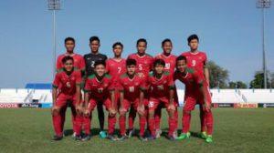 Timnas U-16 dikalahkan Laos 2-3 di babak grup A Piala AFF U-15.(ist.)