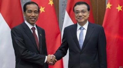 Presiden Jokowi berharap kepada Presiden Xi Jinping, China terus meningkatkan kerja sama dengan prioritas maritim dan infrastruktur. (BBC)