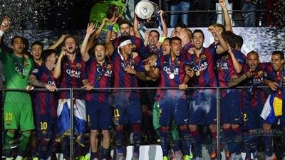 Barcelona Juara Liga Champion 2014/2015 - Foto: Uefa.com