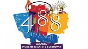 Logo Naga Merah Pada HUT DKI Jakarta ke 488