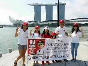 Kegiatan politik pendukung Ahok di Singapura (IST)