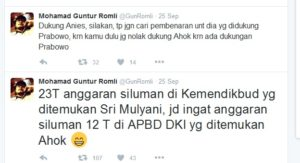Tweet Guntur Romli - Twitter