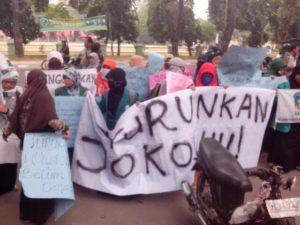 Demo turunkan Jokowi (IST)