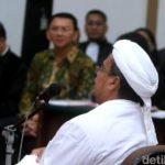 Habib Rizieq saat sidang Ahok