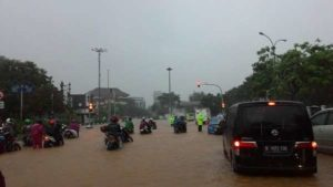 Banjir di kawasan Merdeka Barat (IST)