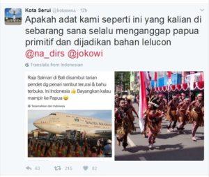 Protes warga Papua terhadap Nadirsyah Hosen (IST)