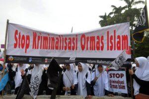 Demo setop kriminalisasi Ormas Islam (IST)