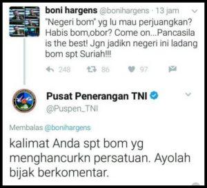 Kicauan Boni Hargens (IST)