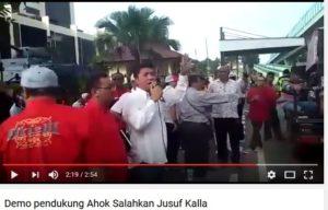 Demo pendukung Ahok salahkan Jusuf Kalla (IST)
