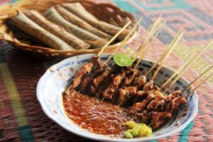 Sate bulayak khas Lombok.  - Indonesia kaya