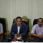 PT. Liga Indoneaia Baru saat menyampaikan soal wasit asing di Liga 1 (rizal)