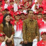Jokowi, Puan Maharani dan atlet SEA Games 2017 (IST)