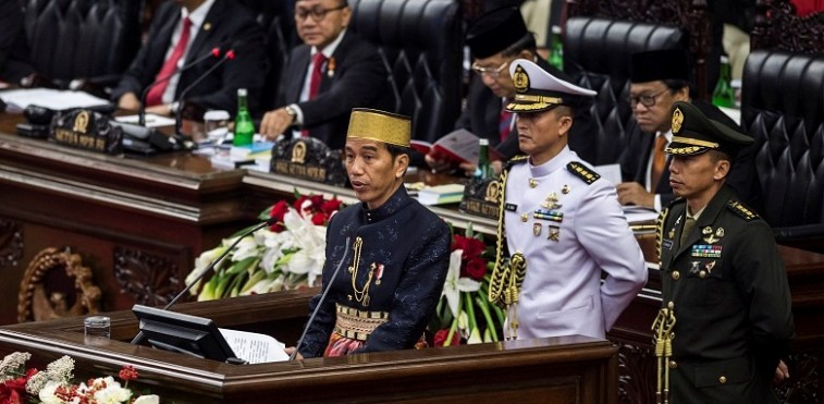 Presiden Jokowi memakai songkok Bugis (IST)
