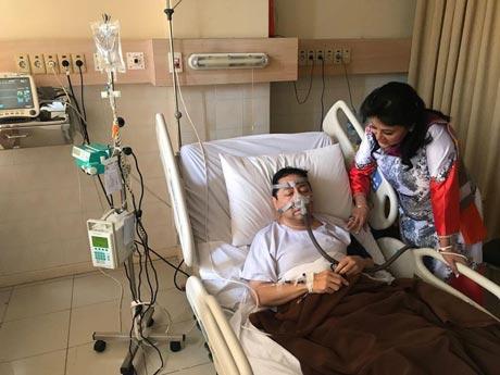 Foto Novanto terbaring sakit di RS Premier Jatinegara (Foto: dok. Istimewa)