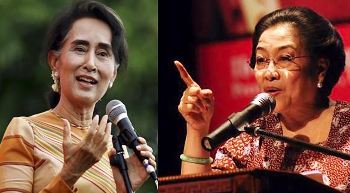 Aung San Suu Kyi. dan Megawati (IST)