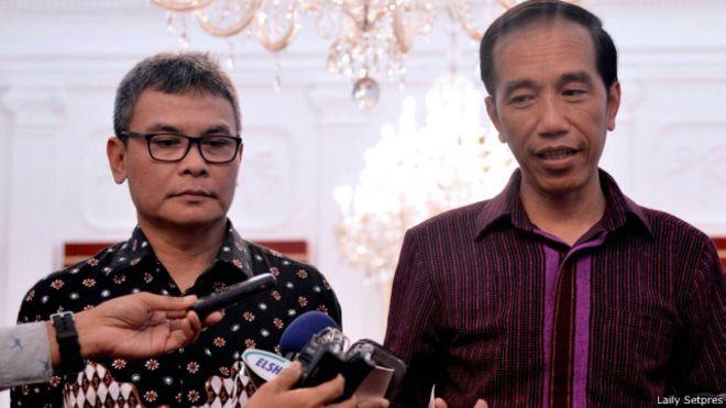 Johan Budi dan Presiden Jokowi (IST)