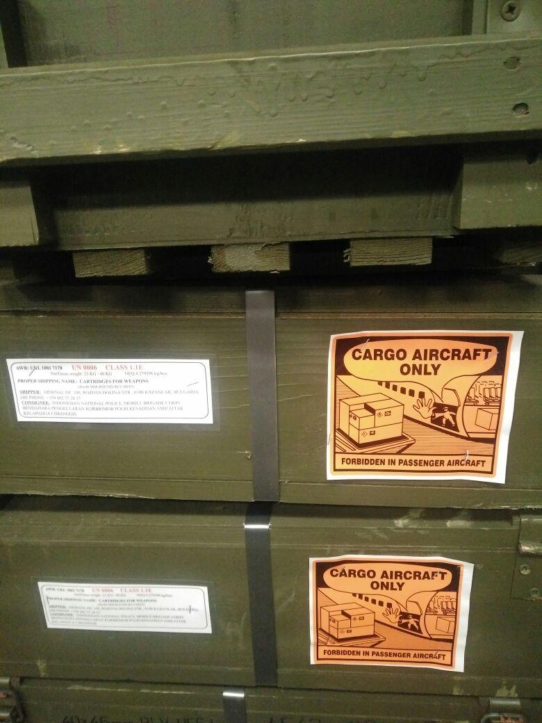 Brimob impor senjata dan amunisi (IST)