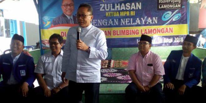 Ketua MPR Perjuangkan Nelayan Lamongan