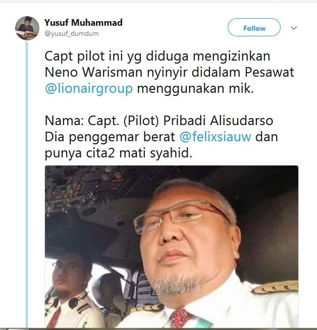 Lion Air Laporkan Ke Polisi Akun Twitter Pendukung Jokowi